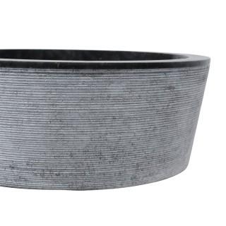Vasque marbre ronde Ø40cm traits LY-G noir
