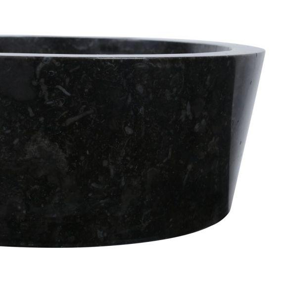 Vasque marbre polie Ø40cm lisse LY-P noir