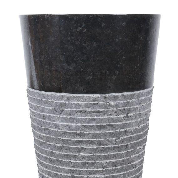 Vasque sur pied wc noire Ø40cm brute PA22-M