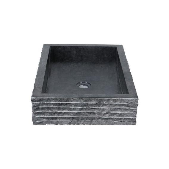 Vasque marbre noire 60cm brute RSB-M