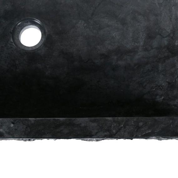 Vasque marbre noire à poser 60cm brute RSB-M
