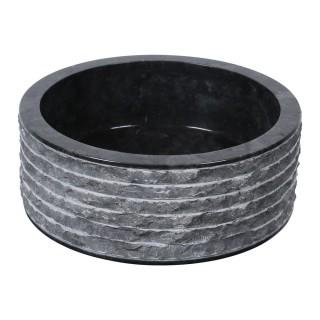Vasque marbre cylindre Ø40cm brute SL-M
