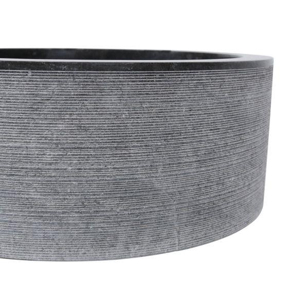 Vasque marbre noire Ø40cm traits SL-G