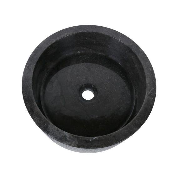 Vasque marbre noire cylindre Ø40cm traits SL-G